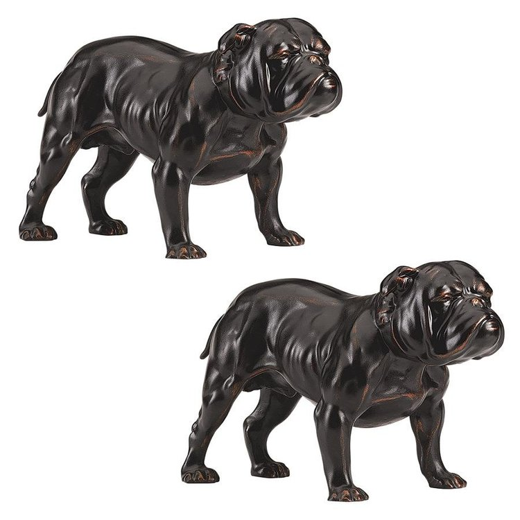 View larger image of Lord Byrons Bulldog Sculpture: Set of two