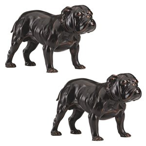 Lord Byrons Bulldog Sculpture: Set of two