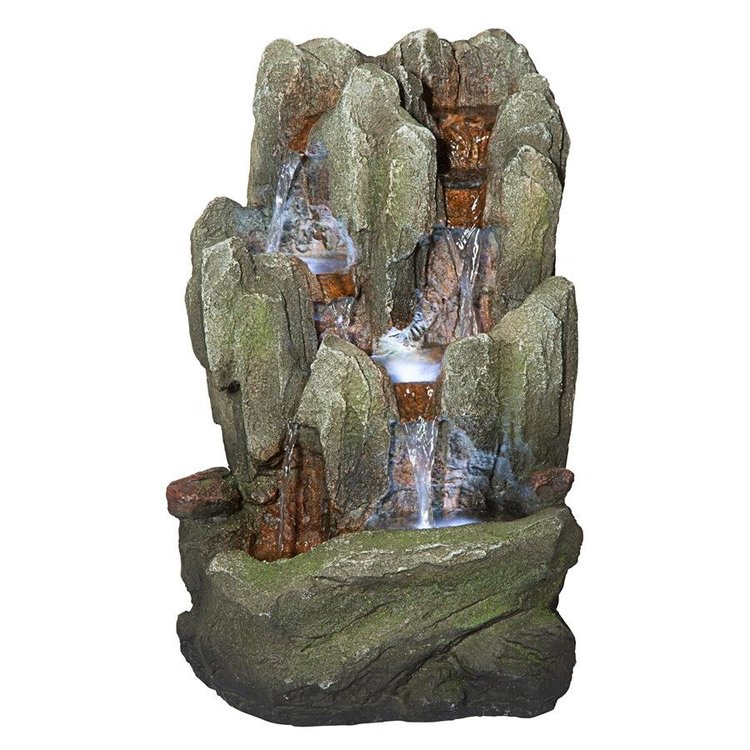 View larger image of Lost Falls Cascading Waterfall Illuminated Tabletop Fountain