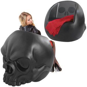 Lost Souls Gothic Skull Sculptural Chair: Black