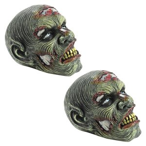 Lost Zombie Head Statues: Set of Two