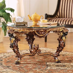 Louis XIV Glass - Topped Cocktail Table