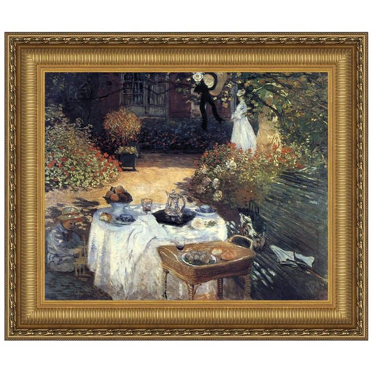 View larger image of The Luncheon, Monet's Garden at Argenteuil, 1873: Canvas Replica Painting