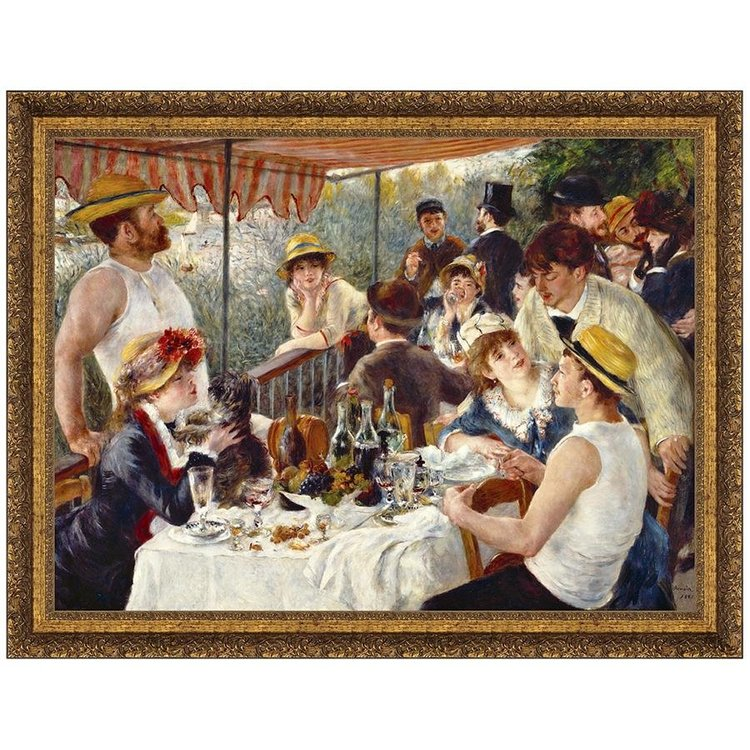 View larger image of Luncheon of the Boating Party, 1881: Canvas Replica Painting: Large