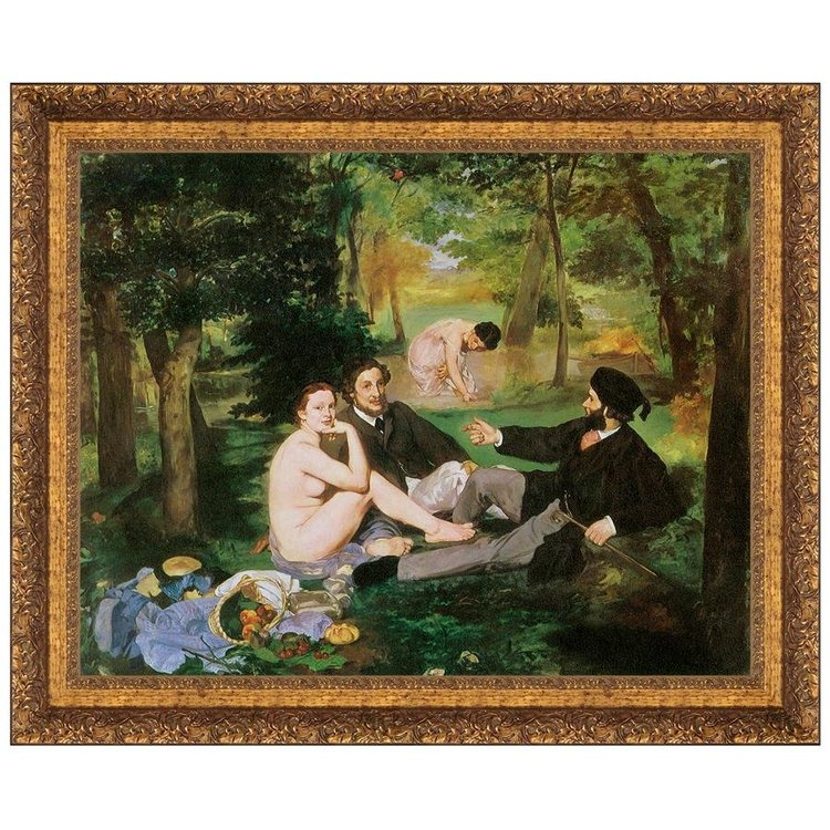 View larger image of Luncheon on the Grass, 1863: Canvas Replica Painting: Grande
