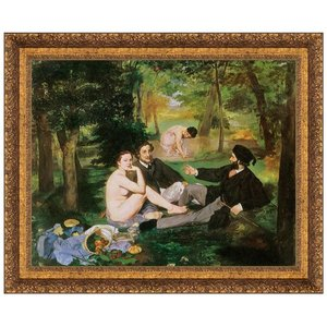 Luncheon on the Grass 1863: Canvas Replica Painting: Small