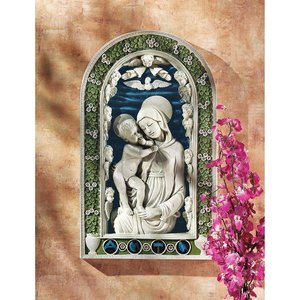 Madonna and Child Bas-Relief Wall Sculpture