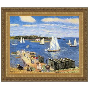 Mahone Bay, 1911: Canvas Replica Painting: Large