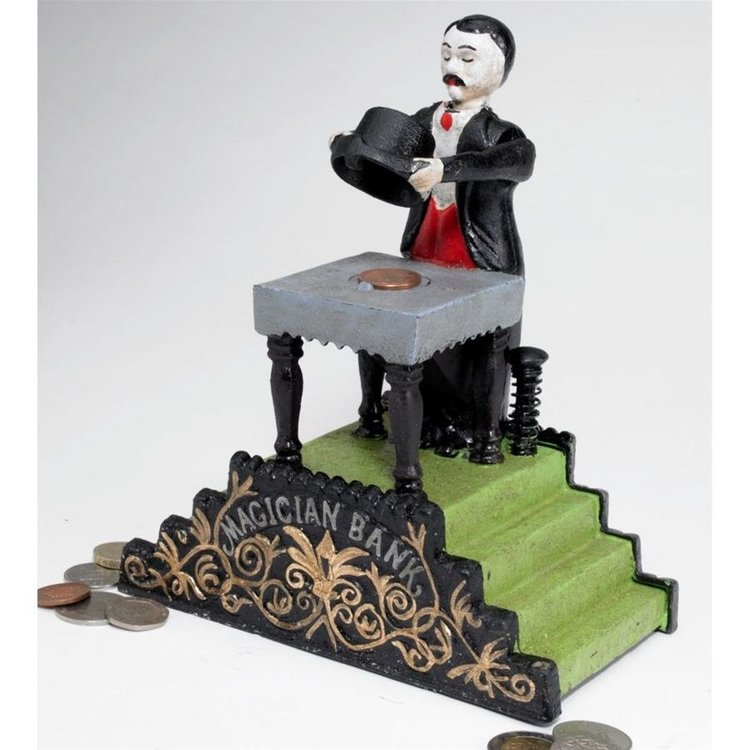 View larger image of Maitland the Magician Authentic Foundry Iron Mechanical Bank