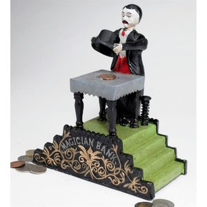 Maitland the Magician Authentic Foundry Iron Mechanical Bank