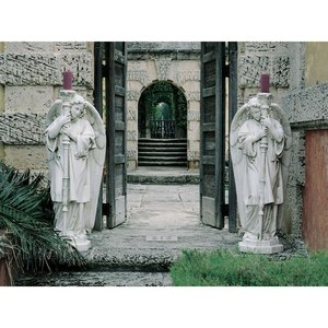 Padova Guardian Angel Religious Statues: Medium Set of Two Left and Right