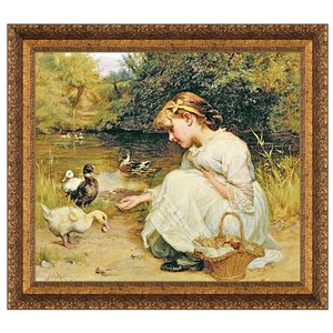 Making Friends, 1885: Canvas Replica Painting: Small