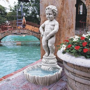 The Peeing Boy of Brussels Sculptural Fountain