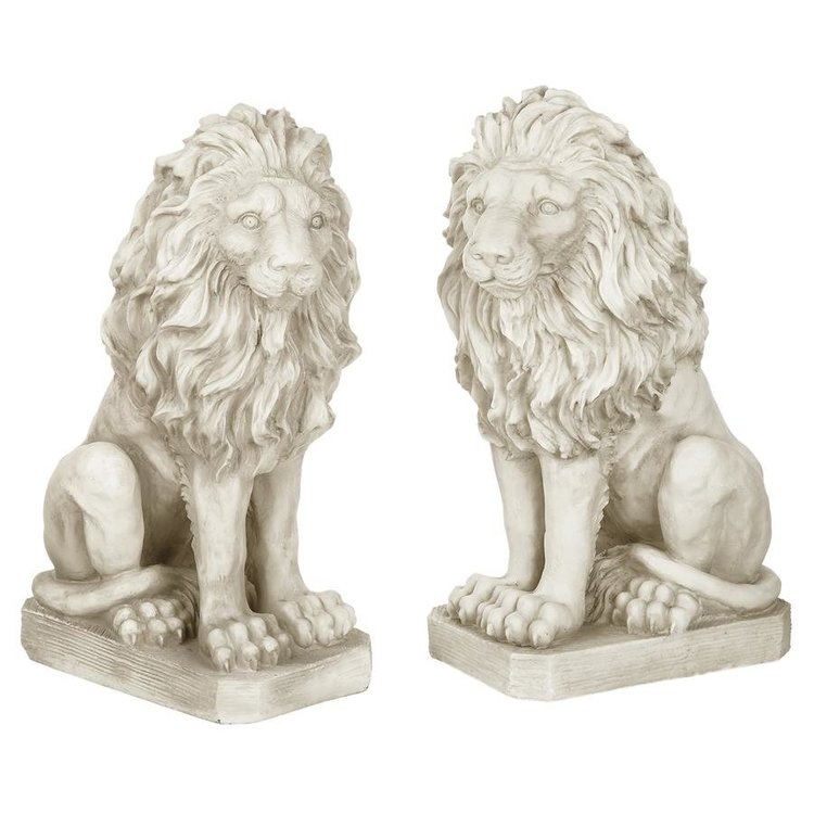 View larger image of Mansfield Manor Lion Sentinel Statue: Set of Left and Right