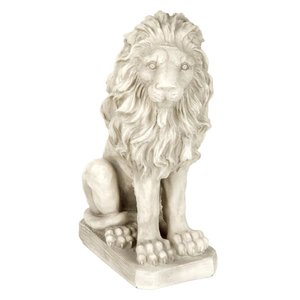 Mansfield Manor Lion Sentinel Statue: Looking Right