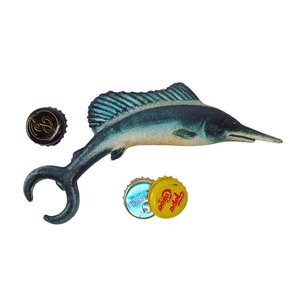 Marlin Fish Cast Iron Bottle Opener: Set of Two