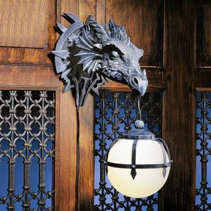Marshgate Castle Dragon Electric Wall Sconce