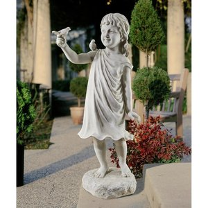 Mary Frances and Feathered Friends Garden Girl Statue