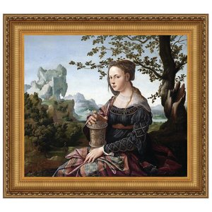 Mary Magdalene, 1530: Canvas Replica Painting: Small