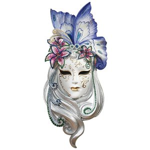 Mask of Venice Wall Sculpture: Butterfly Mask