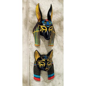 Masks of Ancient Egypt Wall Sculptures: Set of Two