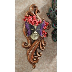 Masquerade at Carnivale Mask Wall Sculpture: Countess Allessandria