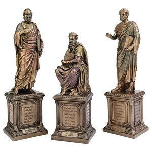 Masters of Western Philosophy Statues: Set of Three