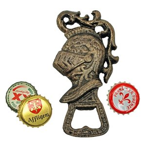 Medieval Knight Cast Iron Bottle Opener: Set of Two