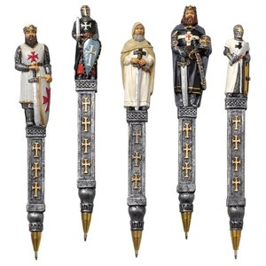 Medieval Templar Knights Pen Collection: Set of Five