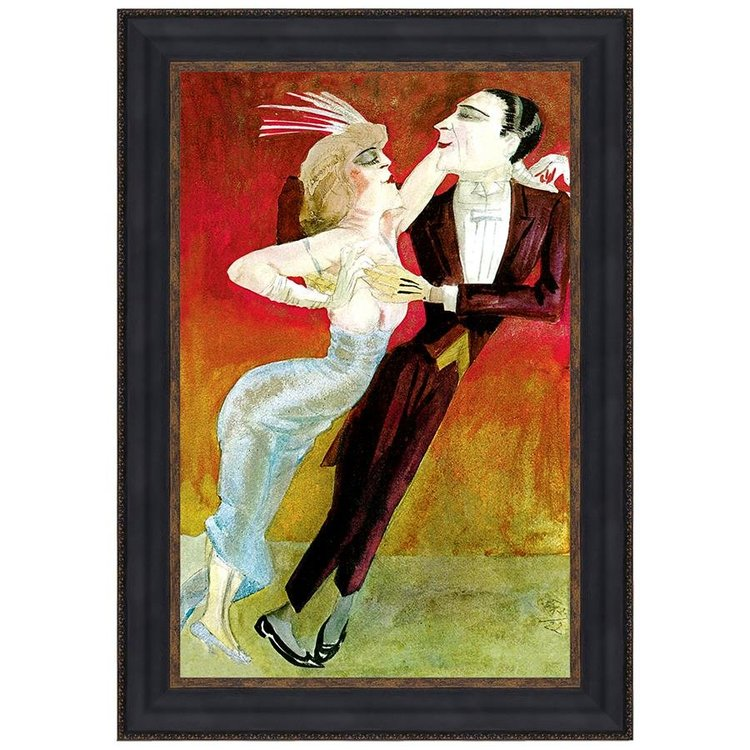 View larger image of Modern Couple Dancing, 1922: Canvas Replica Painting