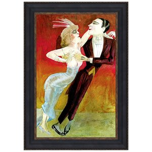 Modern Couple Dancing, 1922: Canvas Replica Painting: Small