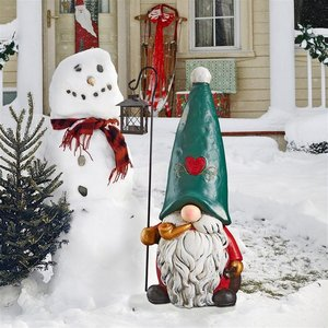 Moe The North Pole Holiday Elf Gnome Statue
