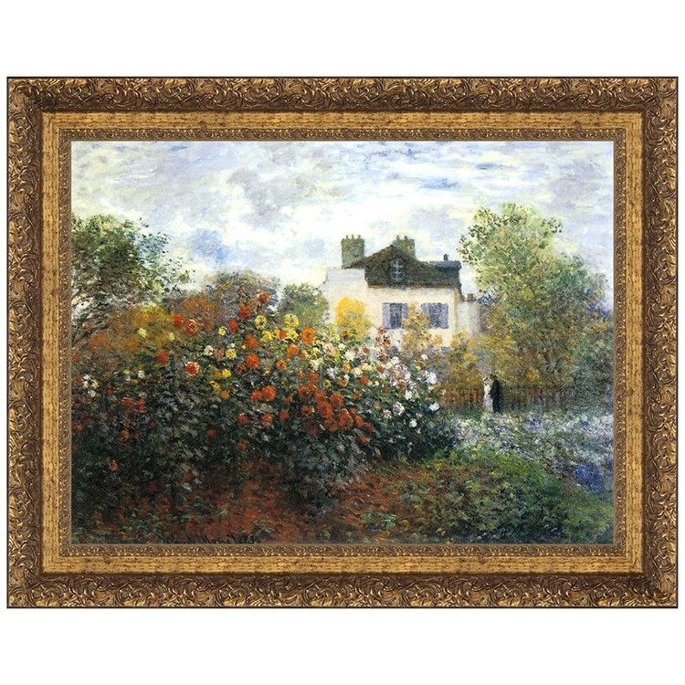 View larger image of Monet's Garden at Argenteuil (The Dahlias), 1873: Canvas Replica Painting
