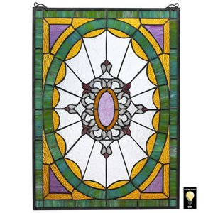 Monte Carlo Tiffany-Style Stained Glass Window