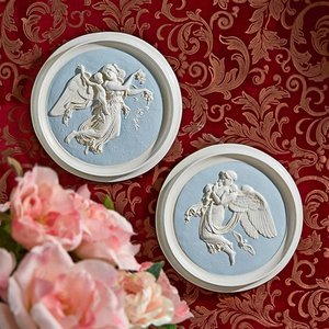 Morning and Night Angel Roundel Wall Plaques (1815)