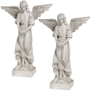 Morning Star Heavenly Angel Statue: Set of Two