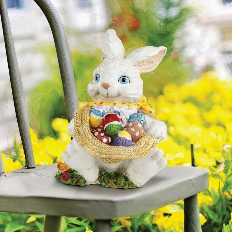 View larger image of Mortimer the Bunny and his Easter Eggs Rabbit Statue