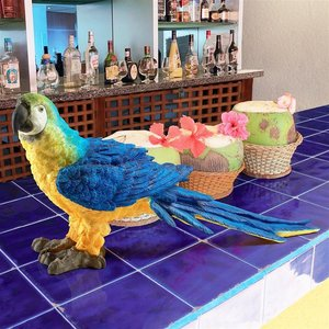 Mortimer the Macaw Tropical Parrot Statue