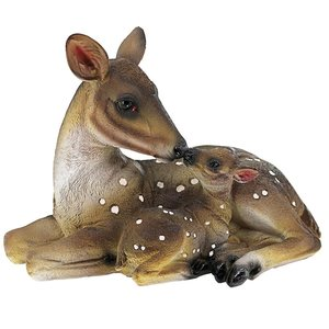 Mothers Love Doe Fawn Statue Small