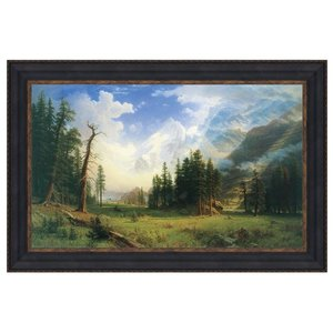 Mountain Landscape, 1895: Canvas Replica Painting: Small