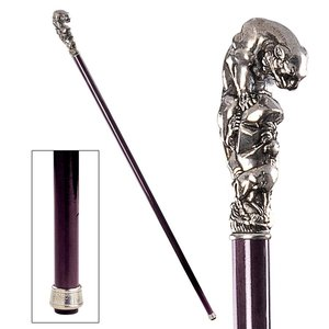 The Padrone Collection: Mountain Lion Pewter Walking Stick