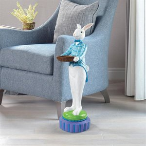 Mr. Eggsy at Your Service Easter Bunny Rabbit Butler Statue