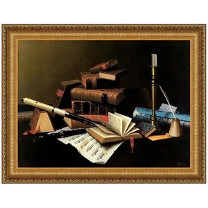 Music and Literature, 1878: Canvas Replica Painting: Large
