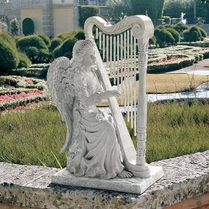 Music from Heaven Angel Statue: Large