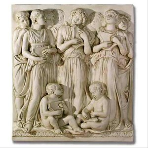 Music of the Lyres Cantoria Religious Sculptural Wall Frieze