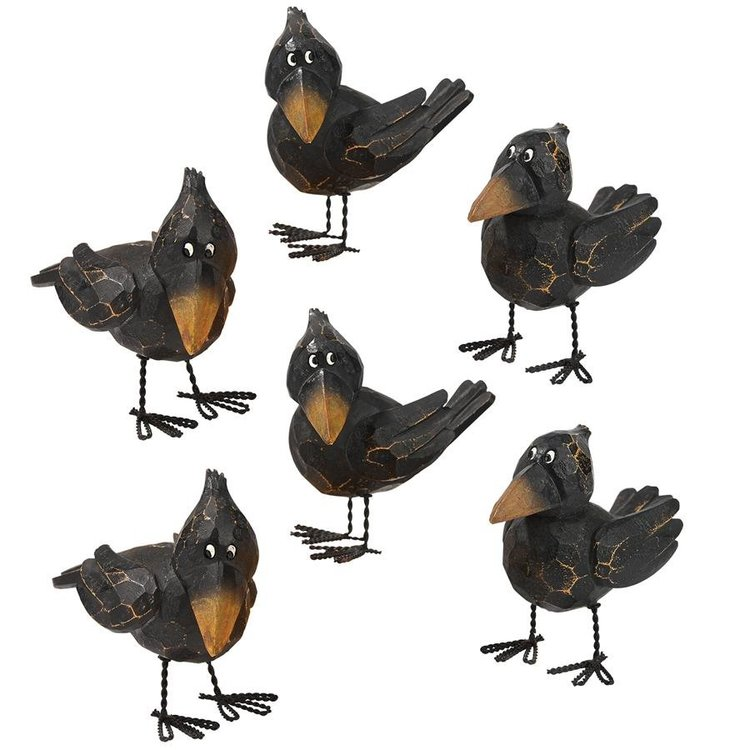 View larger image of Myths and Legends Raven Statues: Set of Six