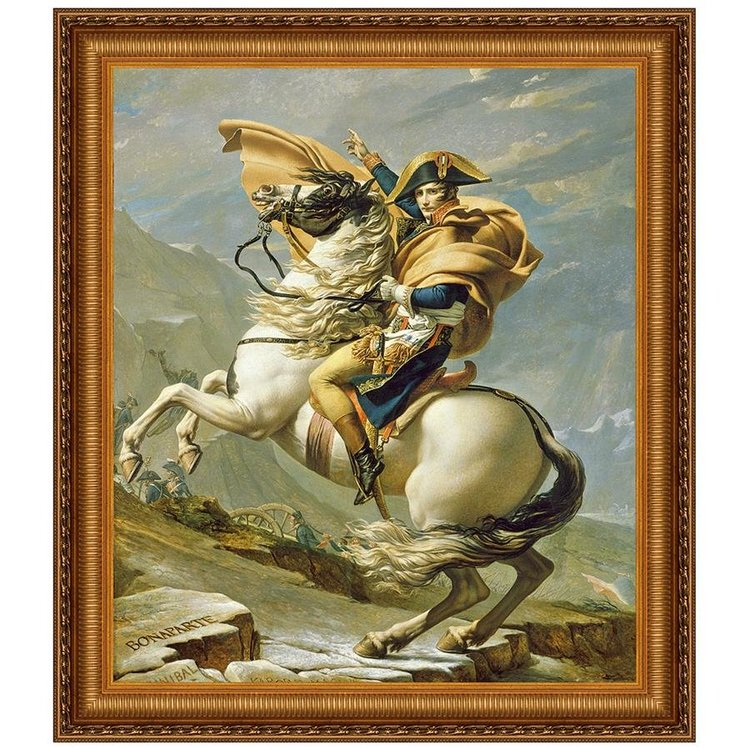 View larger image of Napoleon Crosses the Alps, 185: Canvas Replica Painting: Grande