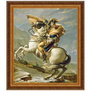 Napoleon Crosses the Alps, 1805: Canvas Replica Painting: Large