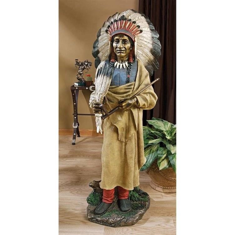 View larger image of Native American Indian Spirit Chief Statue