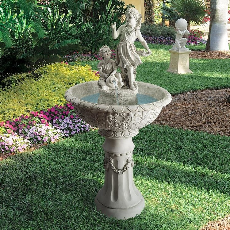 View larger image of Nature's Children Sculptural Fountain